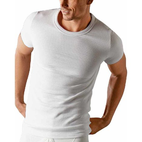 Classic Mens Base Layer Thermal Short Sleeve T Shirt Vest Underwear Two Pack