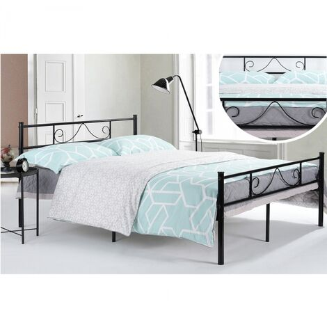 Classic metal double bed frame 140x190 CM