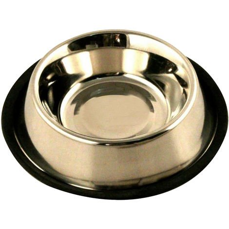 Classic Non Tip Stainless Steel Dog Bowl (500ml) (May Vary)