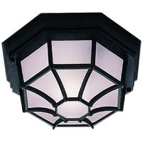 Classic Outdoor Aluminium Porch Light With Frosted Glass by Washington Lighting