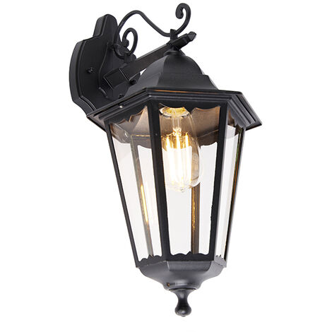 Classic outdoor wall lantern black IP44 - New Orleans Down