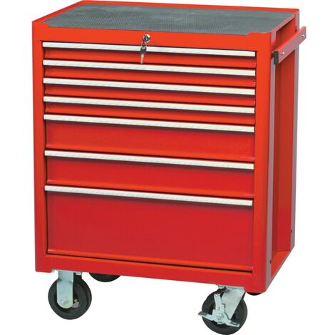 Kennedy-Pro Red 7-Drawer Professional Roller Cabinet ...