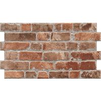 Classic Red Brick Effect Tiles - 310x560x10mm