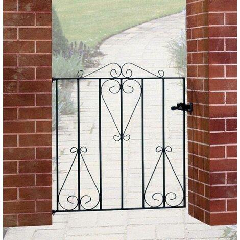 "Classic Single Gate 36"" High 3' Gap Zinc & Powder"