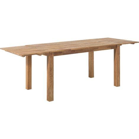 Classic Solid Oak Wood Light Tone Extending Dining Table 180 cm Maxima
