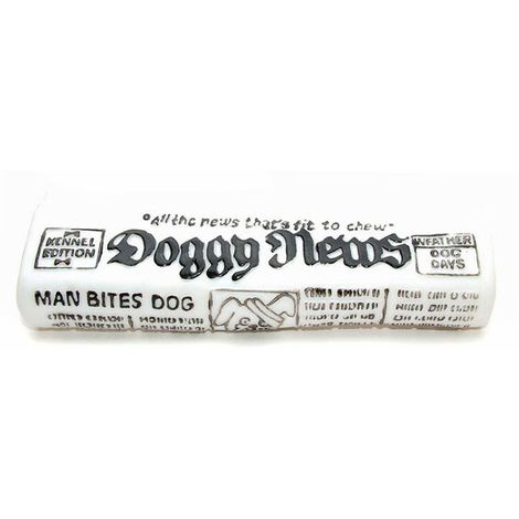 Classic Squeaky Newspaper Dog Toy (7 in) (May Vary)