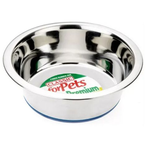 Classic Stainless Steel Dog Bowl (6.75in) (Silver)