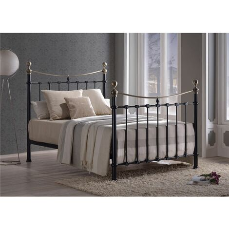 Classic Style Black Metal Bed Frame - King Size 5ft
