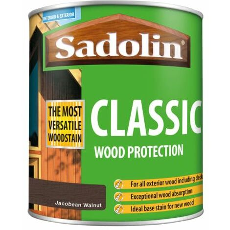 Classic Wood Protection Jacobean Walnut 1 litre SAD5028465