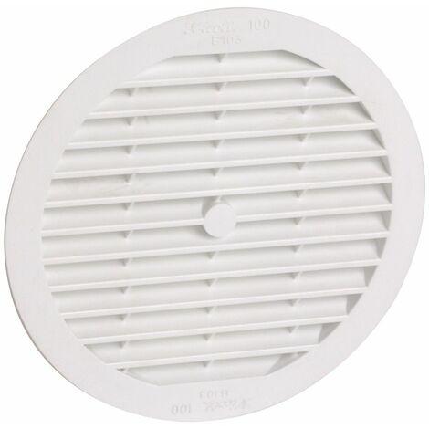 Classique PVC : Ronde D.100 blanche avec moustiquaire