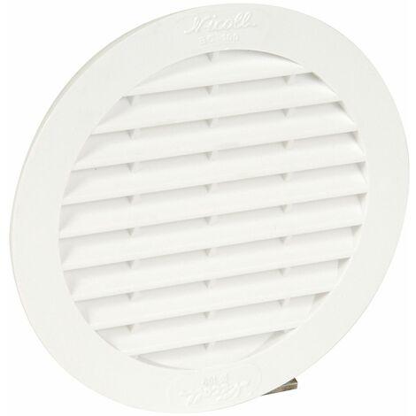 """main image of """"Classique PVC : Ronde pour tuyau D.99 blanche avec moustiquaire"""""""