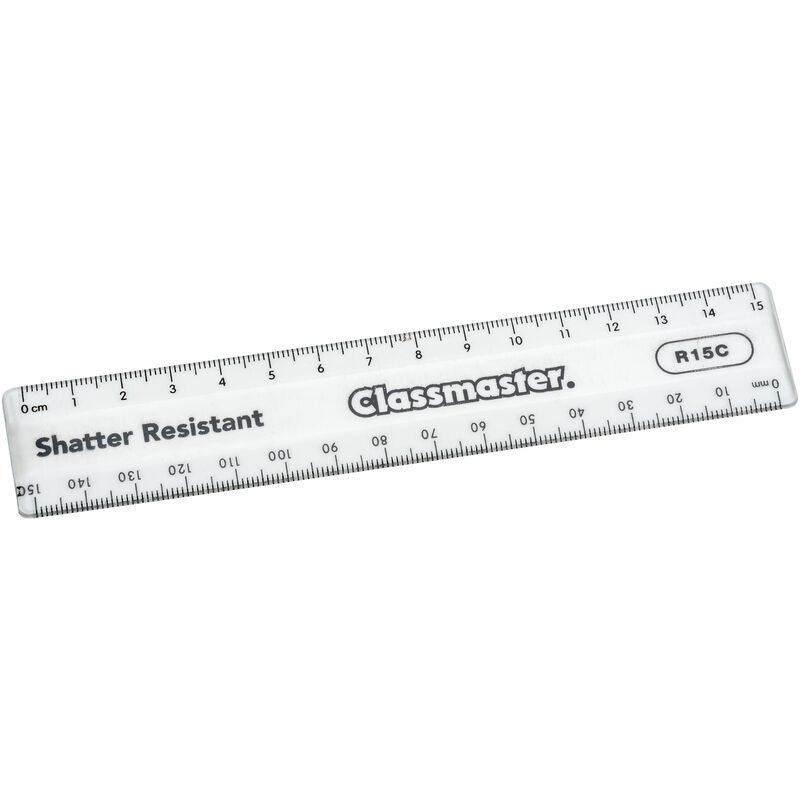 Image of Classmaster Pack 100 Shatter Resistant Clear Rulers, 15cm