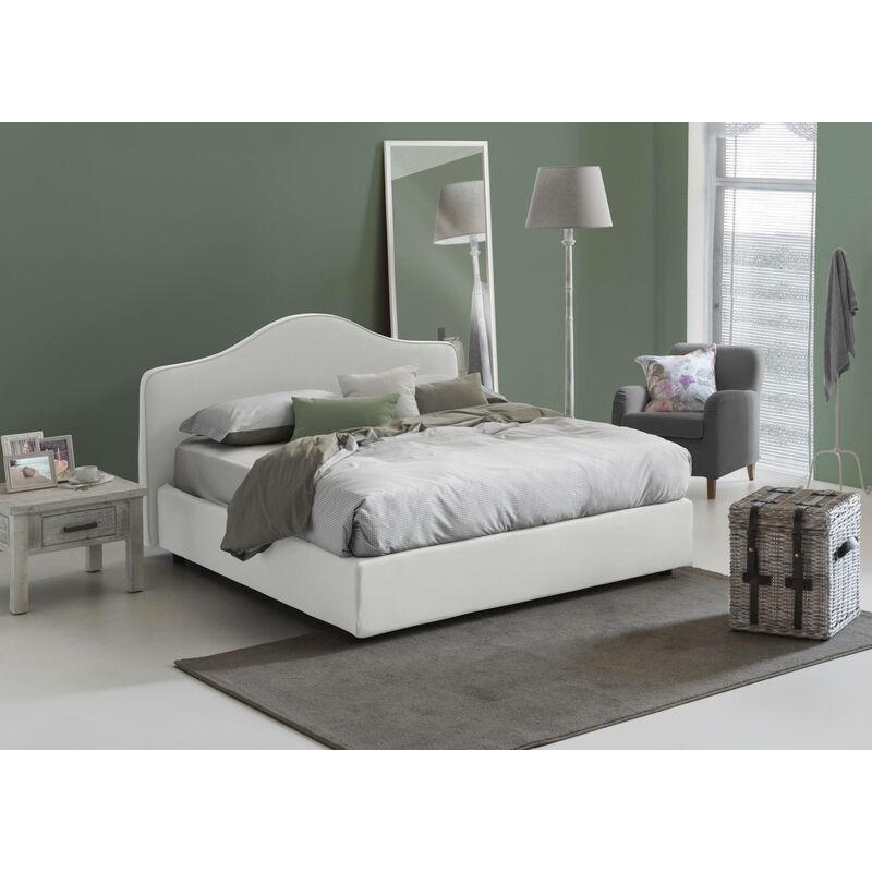 CLAUDIA DOPPELBETT MIT Bettkasten, Farbe Weiß - TALAMO ITALIA
