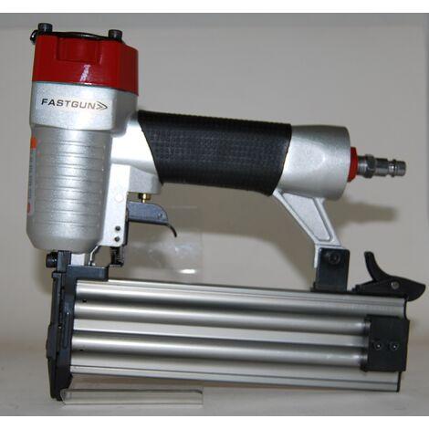 Clavadora Neumática Combi modelo FASTGUN F50 para puntas con y sin cabeza Tipo 12 (1,2 mm) + 2000 Puntas + 1 Pistón completo de repuesto + Maletin + Aceite para engrase + Llaves allen.