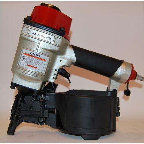 Clavadora Neumática FASTGUN CN55 para clavos con cabeza en Bobina y hasta 57 mm de largo – Novedad