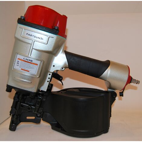 Clavadora Neumática FASTGUN CN70 para clavos con cabeza en Bobina y hasta 70 mm de largo – Novedad