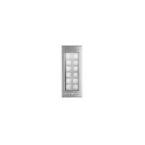 Clavier à code, anti vandalisme, resistant à l'eau, éclairage led intégré, couleur argent. - LOCINOX - - SLIMSTONEZILV.