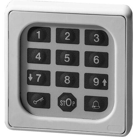 Clavier à code pour motorisation de portail montage apparent (en saillie) Somfy 9000028 IP54, IP68