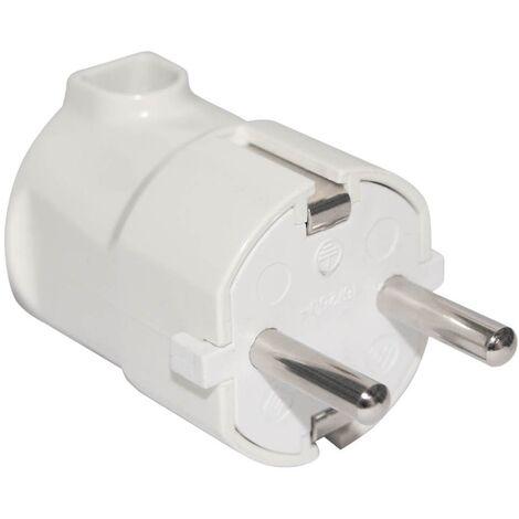 Clavija bipolar entrada cable lateral 4.8mm Blanco