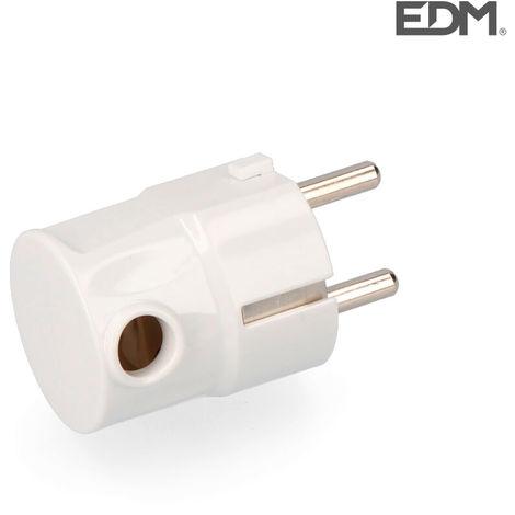 Clavija schuko t/tl s/lateral 4,8mm retractilada edm