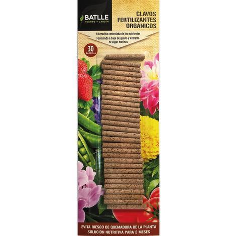 Clavos fertilizantes Eco Batlle, 30 ud
