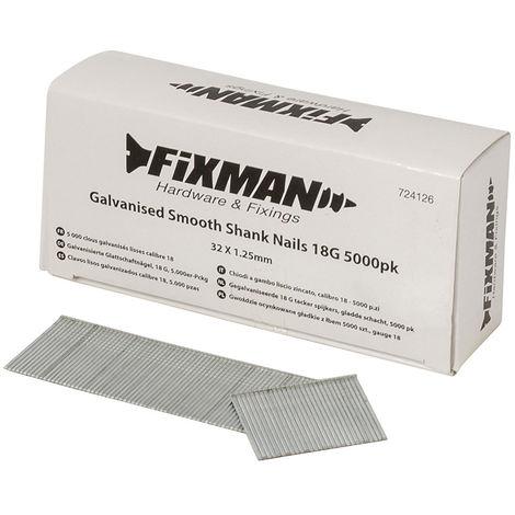 Clavos lisos galvanizados calibre 18, 5.000 pzas 32 x 1,25 mm - NEOFERR
