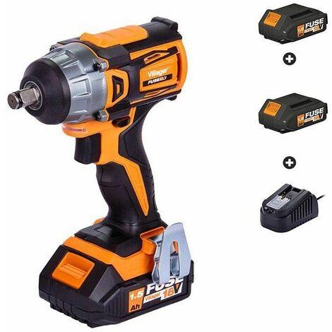 """main image of """"Clé à choc boulonneuse avec batteries et chargeur Fuse VLP 5320 Villager - Orange"""""""
