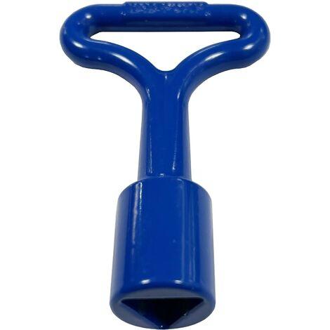 Clé de Batteuse Bleue Pompier Triangle FEMELLE 11 mm