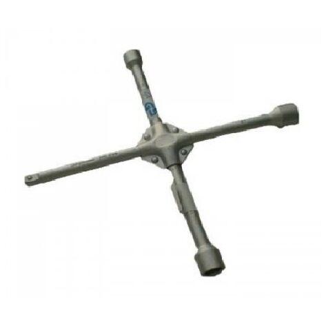 Clé démonte roue en croix renforcée PE