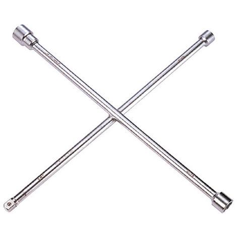 Clé en croix 700 mm D. 24 x 27 x 32 mm avec carré conducteur 3/4