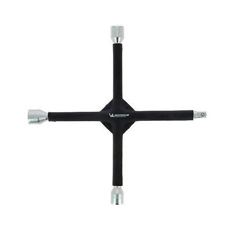 Clé en croix démonte-roues - douilles 17 - 19 - 21 mm - carré 1-2 - Michelin