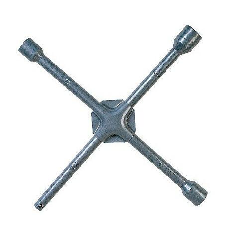 Clé en croix fixe renforcée métal satiné, douille de 1,7, 1,9, 2,1 cm. - AUTOBEST