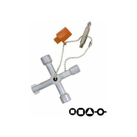 Clé en croix universelle pour armoires électriques
