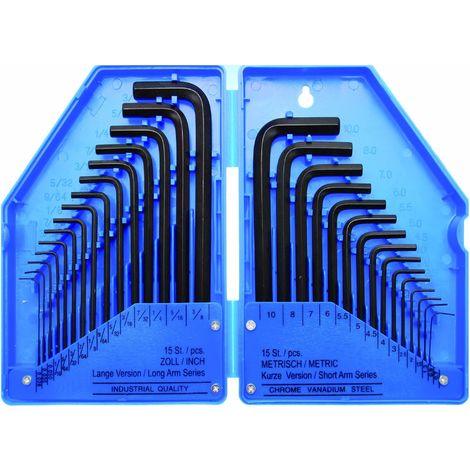 """main image of """"CLE MALE 6 PANS COTES METRIQUES ET POUCES, IMPERIALES, ANGLAISES"""""""