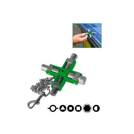 Clé universelle pour armoire électrique - 9 embouts