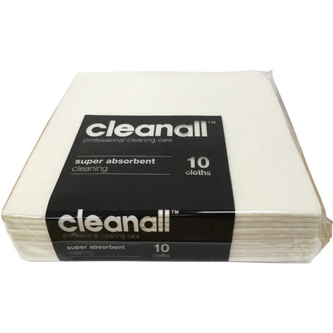 Clean All White 10 pack Strong Absorbent General Everyday Cleaning Cloths, 2Pack
