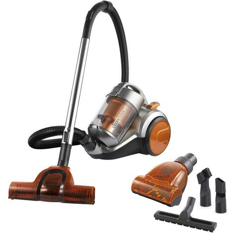 Clean Maxx Aspirateur sans sac - Cyclone 7338 Pet Star - orange/gris