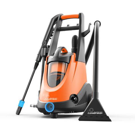 CLEANER WASH CW1400-3F - Hidrolimpiadora / aspiradora en seco y húmedo con cepillo y accesorios. Potencia 1400W 100 bar.