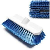 Cleaning brush Bilevel brush soft blue made of PBT fiber for sensitive surfaces