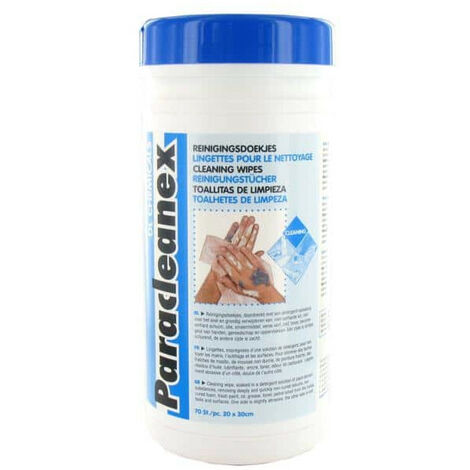 cleaning wipe Paracleanex DL Chemicals 70PC 20cm x 30cm