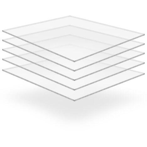 Clear Acrylic Glass Sheets 5 pcs 40x60 cm 2 mm