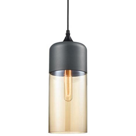 Clear Glass Pendant Light Vintage Industrial Chandelier Creative Metal Hanging Lamp for Loft Living Room Kitchen