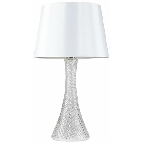 Clear Glass Table Lamp Reading Bedside Light Shade
