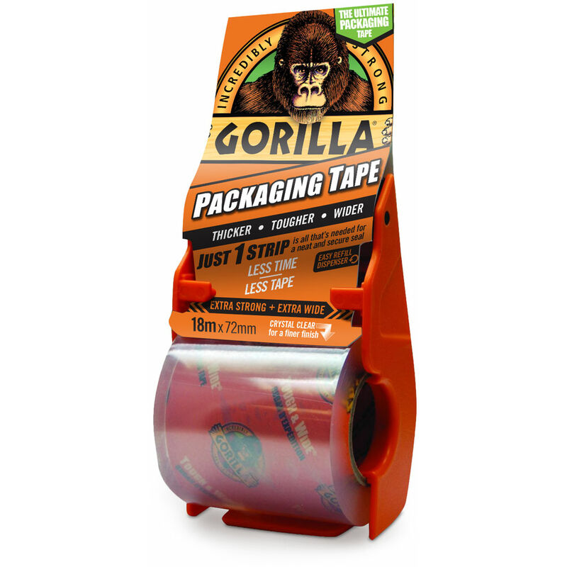 Image of 3044801 Gorilla Packaging Tape 72mm x 18m Dispenser - Gorilla Glue