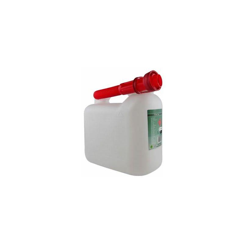 Rocwood Black Diesel Fuel Canister Plastic Jerry Can 5 Litre Flexible Spout