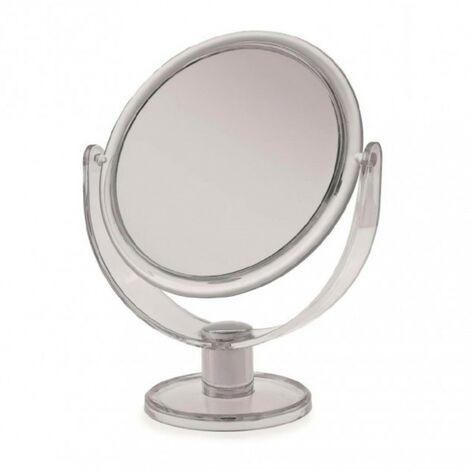 Clear Plastic Large Round Mirror