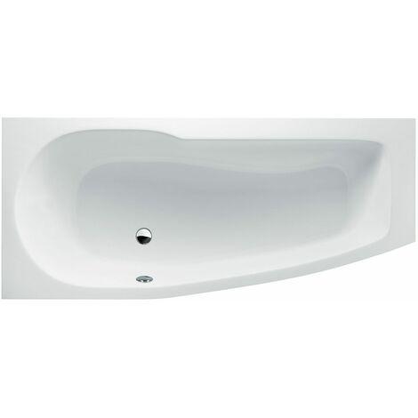 CLEARGREEN Baignoire-douche asymétrique ECOCURVE R15 170X75X50 cm Lucite®