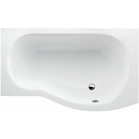 CLEARGREEN Baignoire-douche asymétrique ECOROUND R20 150X80X74 cm Lucite®