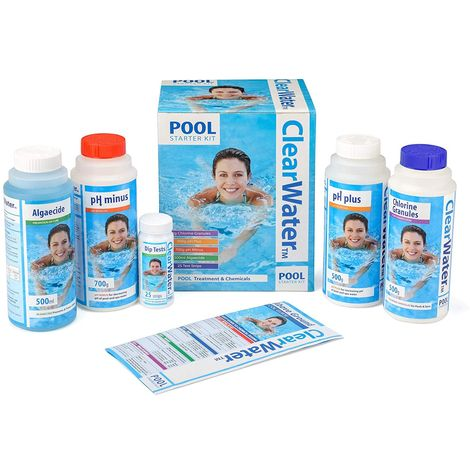 Clearwater - Basic Pool Starter Set for Swimming Pool Treatment