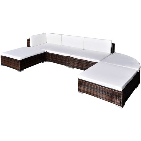 Clein 5 Seater Rattan Corner Sofa Set by Ivy Bronx - Brown